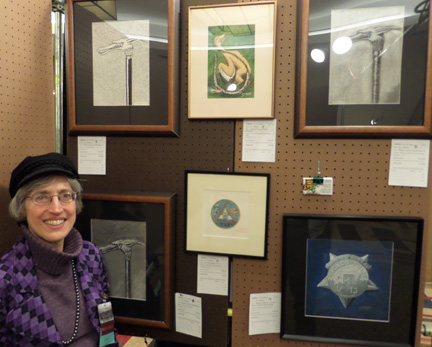 E. J. Barnes at 2014 Arisia Art Show